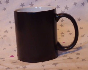 Magic mug with photo and text
