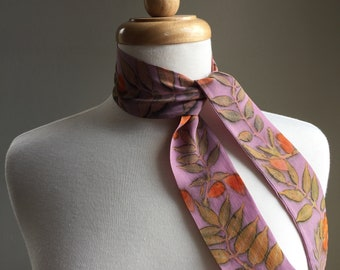 One of a kind eco printed silk neckerchief (PN2)