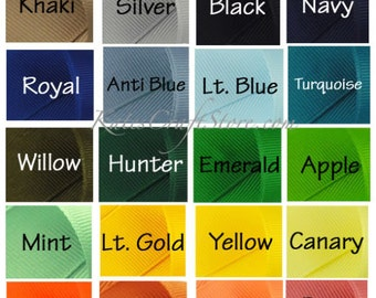 """50 yards of 3/8"""" Grosgrain Ribbon - You Pick Your Color"""