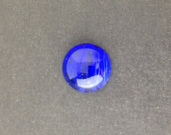 Vintage Sapphire and White Swirled Glass Cabochons Japan18mm (2)  cab099D