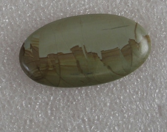 Picturesque Jasper Stone Oval Cabochon 32mm