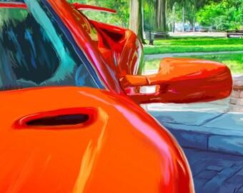 Lamborghini Diablo - Winter Park - limited edition print by James Becker