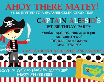 Boys Pirate Invitation