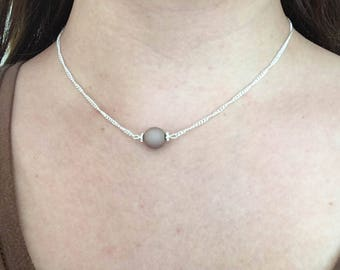 Necklace taupe / brown / grey / minimalistic / gift / mothersday | Necklace Natural Style