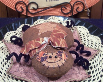 Primitive Whimsical Country Halloween SPIDER WEB Doll Bowl Fillers Ornies