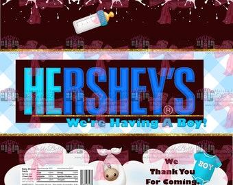 HERshey, HErshey, Hershey Candy Bar Wrapper 3ct.