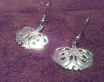 Sterling Silver Hand Crafted Art Noveau Drop Earrings