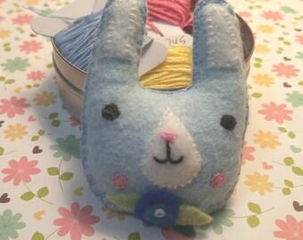 Spring Bunny Brooch/Easter Bunny Brooch