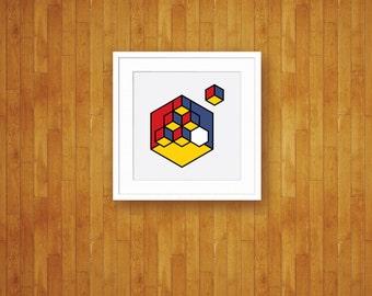 Isolation - Abstract Pop Art Mod Geometric Print