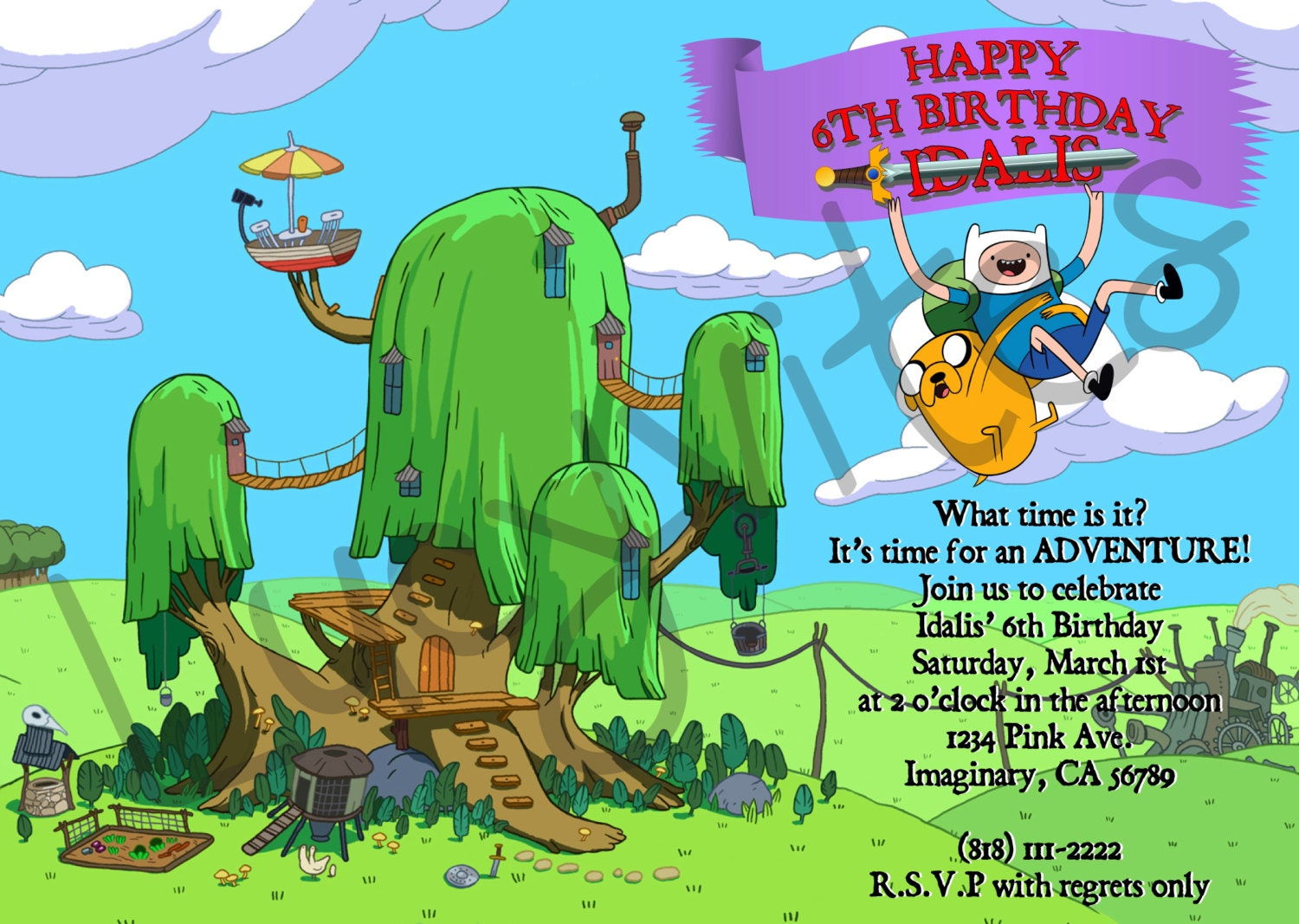 adventure time party invitations - Roho.4senses.co