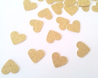 SPARKLEHEARTS GOLD Confetti / Table Scatters -Gold Glitter Party Decoration