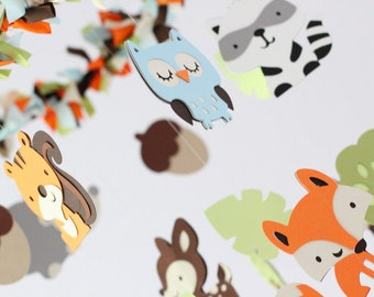 Forest Animals Nursery Mobile SMALL - Nursery Decor, Baby Shower Gift, Photographer Prop