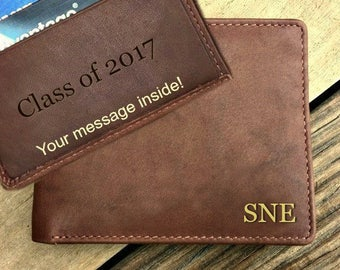 Graduation gift, Father's-day-gift, Fathers day gift, personalized mens gift, wallet for Father's day, mens gift • Toffee  7751*