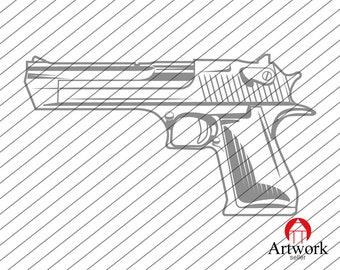 GUN SVG, pistol svg, weapon svg, revolver svg, scope gun svg, rifle Target svg, gun clipart, decal, stencil, vinyl, silhouette, cut file