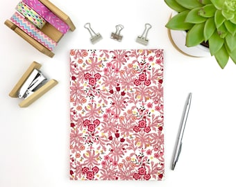 Journal, A5 hardback, case bound notebook with lined pages, stationery, workbook