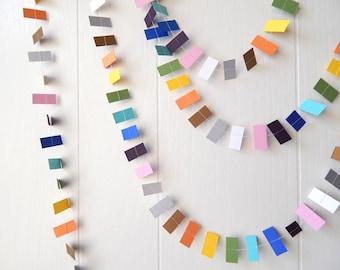 Mini Rainbow Garland / Nursery Decor / Party Decor / Garland ribbon