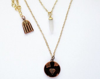 Man of Steel - Double Layer, Mixed Metal Necklace