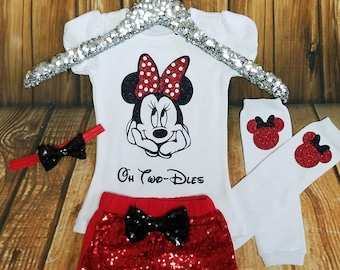Minnie Mouse Birthday Outfit TWO Birthday Outfit 2nd minnie mouse Disney trip minnie mouse outfit oh twodles