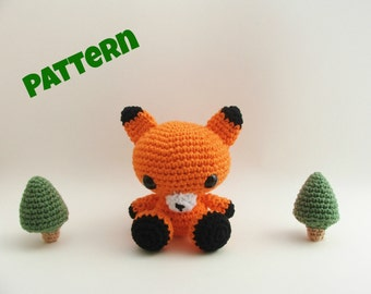 Amigurumi Fox Pattern, Crochet Fox Pattern, Crochet Woodland Animal Pattern, Aamigurumi Animal Pattern, Crochet Pattern, Amigurumi Pattern