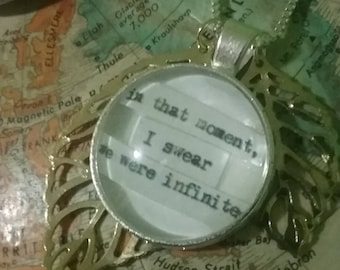 Infinite Necklace / Perks of Being a Wallflower / Handmade Literary Necklace