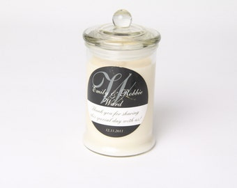 Personalised Fiesta Wedding Favour Soy Candles