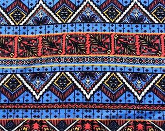 Southwest Blue and Rust Print Leggings