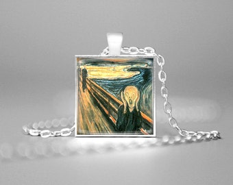 THE SCREAM NECKLACE The Scream Pendant Famous Art Edward Munch's Painting The Scream Jewelry The Scream Art Pendant Fine Art Necklace Gift