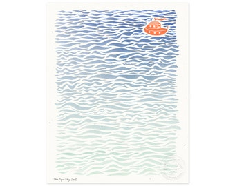 Lost at Sea Illustrated Art Print