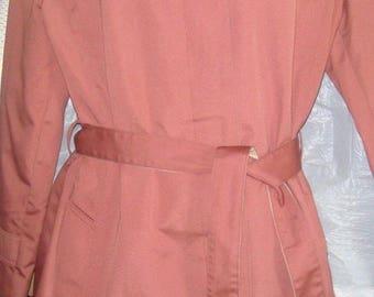 Women's Misty Harbor Vintage Button Down Rain Jacket Coat Size 12 Rose Color