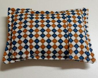 Seatbelt Pillow Softie ChemoPort Pad  - Masculine Checkerboard Print