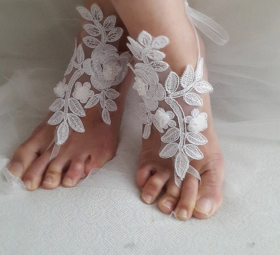 wedding lace free Anklet sandals bridal bridal white accessories gifts shipping wedding shoes bridesmaids sandals 6xnHn4Tq7w