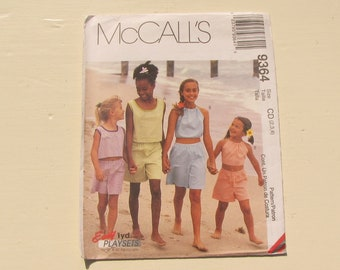 McCall's 9364 - Toddler Girl's Summer Separates - Size 2-3-4 -  Two Tops and Shorts - Uncut and Factory Folded - MSRP 9.95
