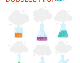 Laboratory Smoke Clip Art for Scrapbooking Card Making Cupcake Toppers Paper Crafts