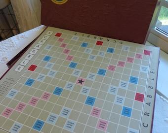 Vintage 50s Scrabble Game Set 1953 Game Board Scrabble