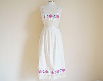 Vintage 1930s Dress / Vintage Cotton Dress
