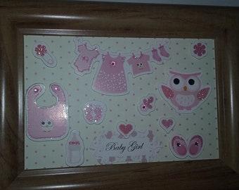 Baby girl or boy gift frame