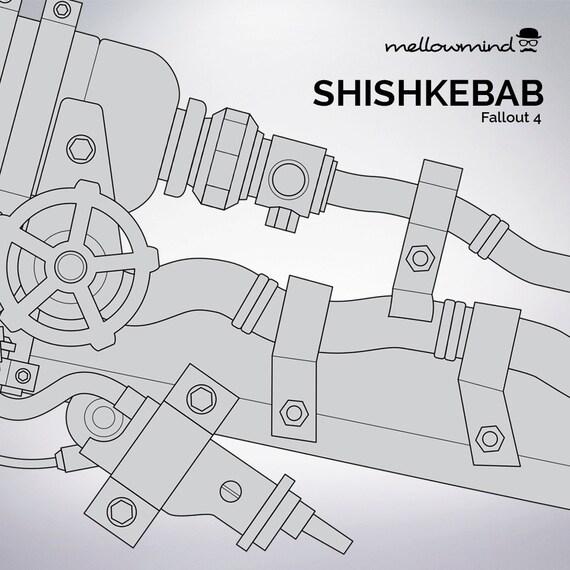 Items similar to fallout 4 shishkebab blueprint 11 scale on etsy malvernweather Gallery