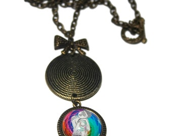 Pendant cabochon meditation necklace