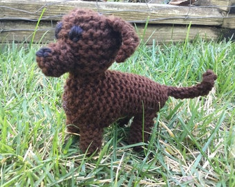Knitted Dachshund Puppy