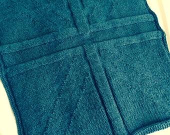 Union Jack Blanket Knitting Pattern, PDF, Instant Download, Pram, Baby
