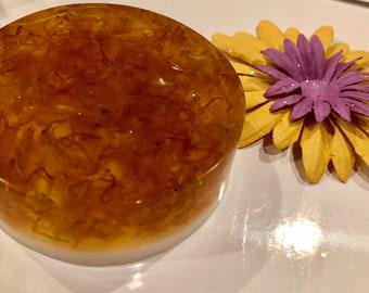 Honey Soap with Organic Calendula Petals