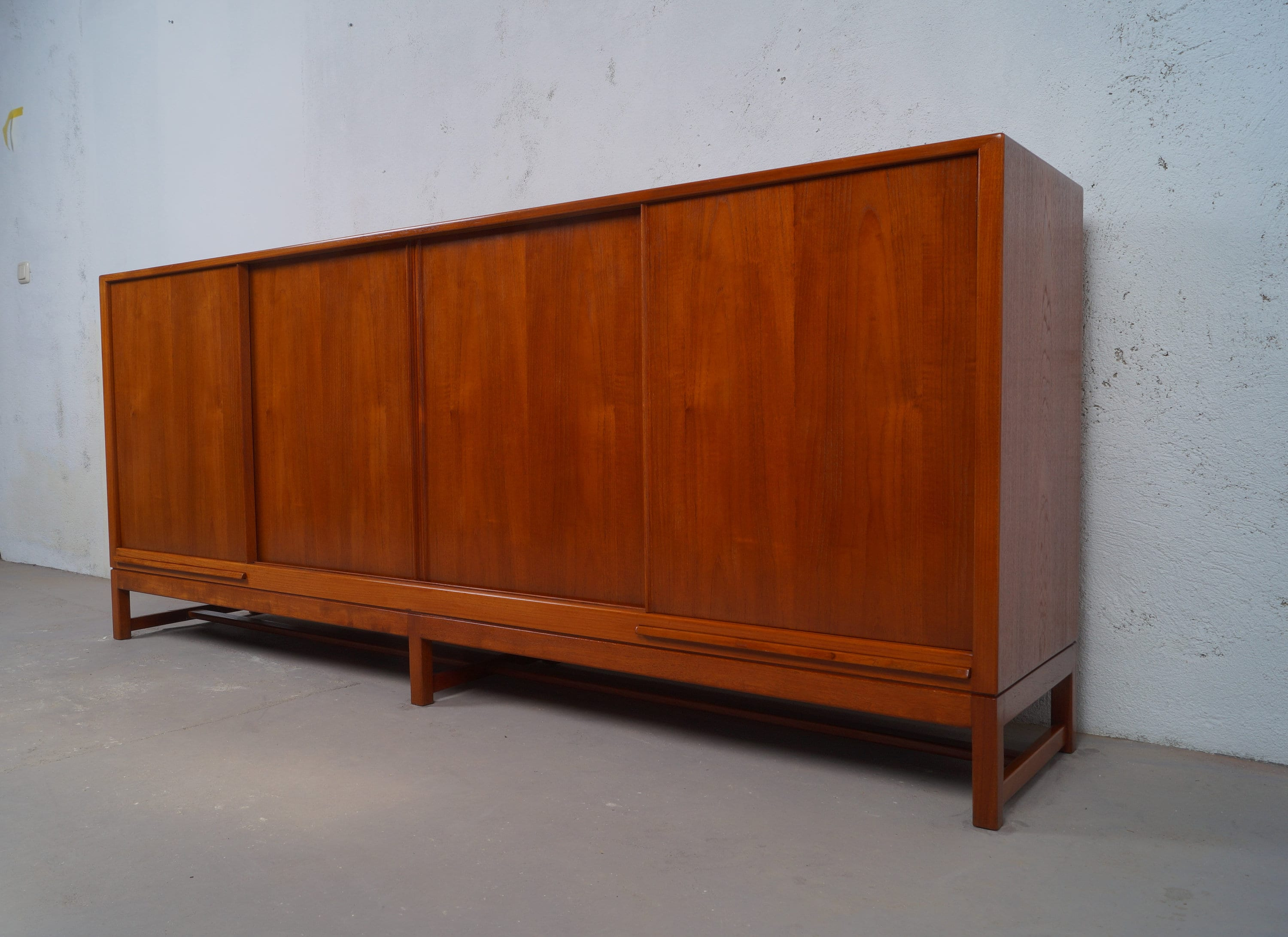 sideboard 60er jahre teak midcentury danish modern vintage. Black Bedroom Furniture Sets. Home Design Ideas