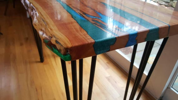 Resin River Live Edge Wood Table Live Edge Coffee Table