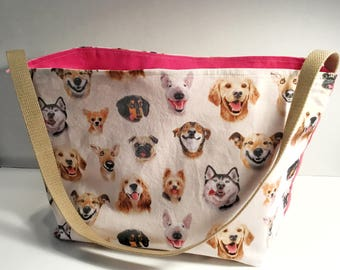 Happy Dogs Grocery Bag