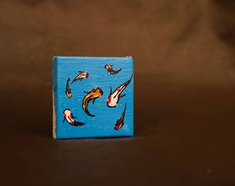Koi Pond miniature painting
