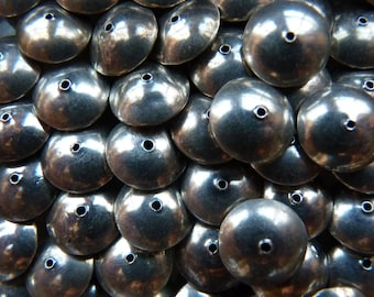 Sterling disc beads