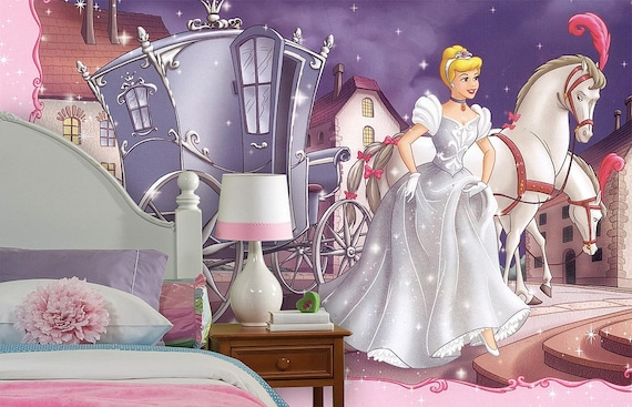 Cinderella Wall Mural in Various Sizes and Styles by KIINOO
