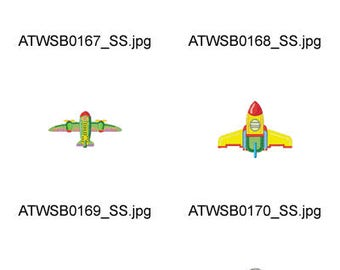 Plain-Airplanes ( 10 Machine Embroidery Designs from ATW ) XYZ17D