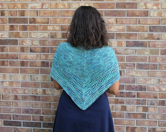 Handknit Mermaid Triangle Scarf