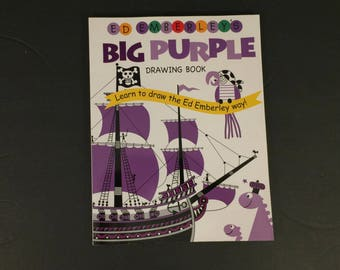 Ed Emberley's Big Purple Drawing Book by Ed Emberley, 1981, Softcover